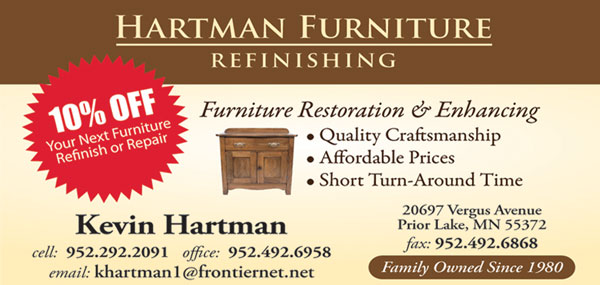 Hartman Furniture Refinishing Testimonials Lakeville